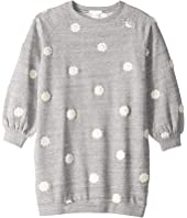Chloe Kids - Adult Inspiration Fleece Dress with Embroidered Flowers (Little Kids/Big Kids)
