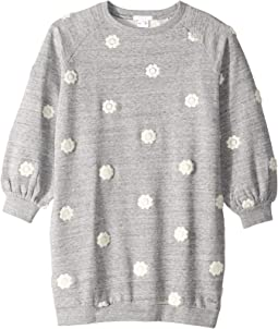 Adult Inspiration Fleece Dress with Embroidered Flowers (Little Kids/Big Kids)