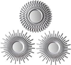 BONNYCO Espejos Pared Decorativos Plateados Pack 3 Espejos Decorativos Ideales para Decoracion Casa, Habitación y Salón | Espejos Redondos Pared Regalos Originales para Mujer | Decoracion Pared