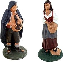Figuras Belén 16cm, figura de terracota Zampognaro, Belén De Caltagirone decoradas a mano