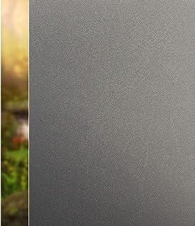 rabbitgoo Vinilo Cristal Ventana Protector Privacidad Sin Pegamento Pegatina Opaco Vinilo Decorativo Pelicula Autoadhesivo Adherencia Electrostática Pegatina Deslustrada Negro 90x200CM