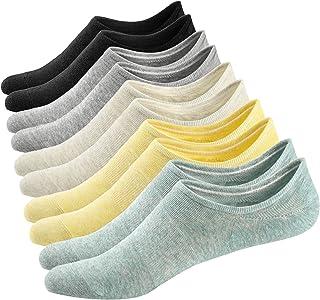 3 o 6 Pares Calcetines Invisibles Mujer De Algodón Calcetines Cortos Elástco Con Silicona Antideslizante