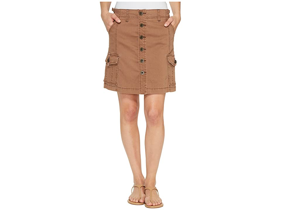 Jag Jeans Boardwalk Button Front Skirt in Bay Twill (Birds Nest) Women