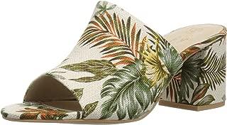 Women's Commute Heeled Sandal, Tropical Print, 7.5 M US