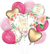 Party City Boho Girl Baby Shower Balloon Supplies, Include 15 Latex Balloons in 2 Shades of Pink and 5 Foil Balloons