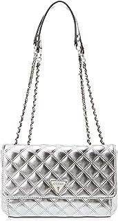 Guess Womens Cross-Body Handbag, Silver - MY767921