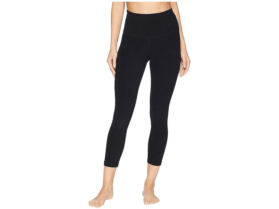 Beyond Yoga Spacedye High-Waisted Capri Leggings (Darkest Night) Women