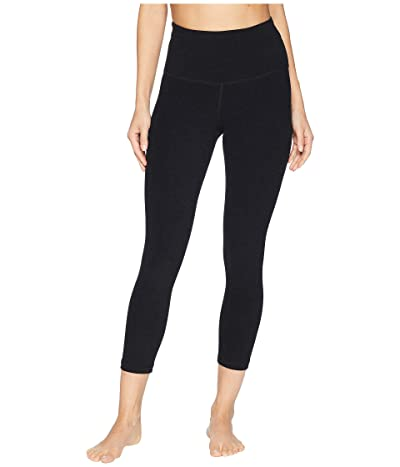 Beyond Yoga Spacedye High Waisted Capri Leggings (Darkest Night) Women