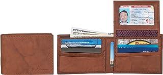 Men's Manchester Slim Bifold Full-Grain Leather RFID Minimalist Gift Box Wallet