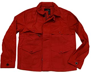 Ralph Lauren Polo RLX Mens Water Resistant Zip Button Cargo Jacket Red Large