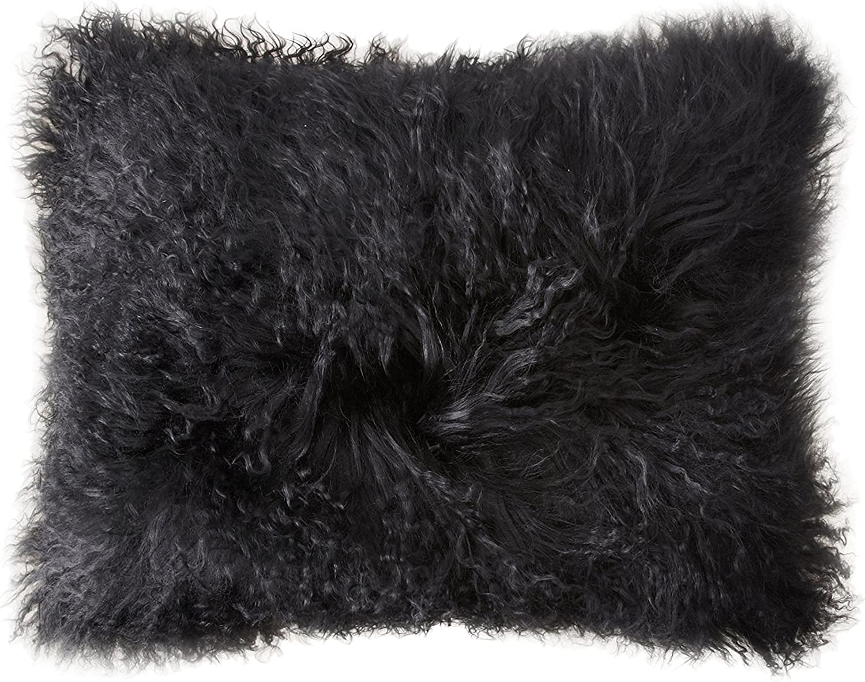 Belle Epoque Mongolian Pillow CASE Boudoir 13 X17  Black,