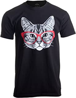 cat in glasses t shirt