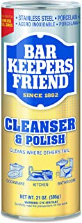 Bar Keepers Friend 11514CT Powdered Cleanser and Polish, 21 oz Can (Case of 12)