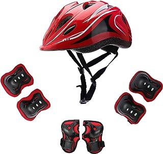 مجموعه ایمنی مخصوص دوچرخه سواری اسکیت بازی غلتکی دوچرخه اسکیت بورد قابل تنظیم برای کودکان 5-12 سال