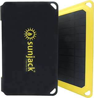 SunJack 15W Solar Charger Portable Solar Panel with USB for Cell Phones, Tablets for Backpacking, Camping, Hiking and More