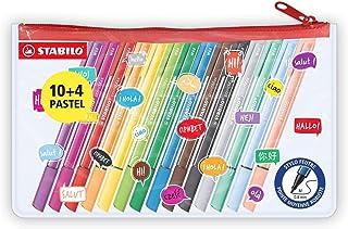 Stylo feutre - STABILO pointMax - Trousse 14 stylos-feutres - dont 4 pastel