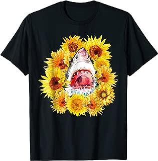 Shark Sunflower Funny Shark Lover Gift T-shirt