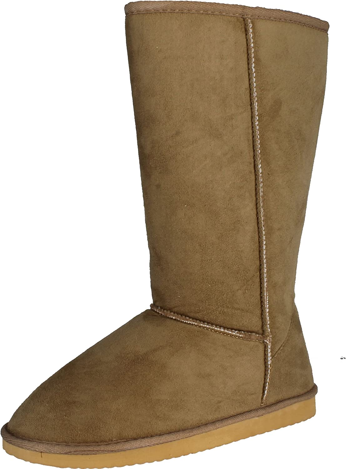 Top Moda Smith 10 Womens Chunky Heel Lace up Buckle Ankle Booties Camel
