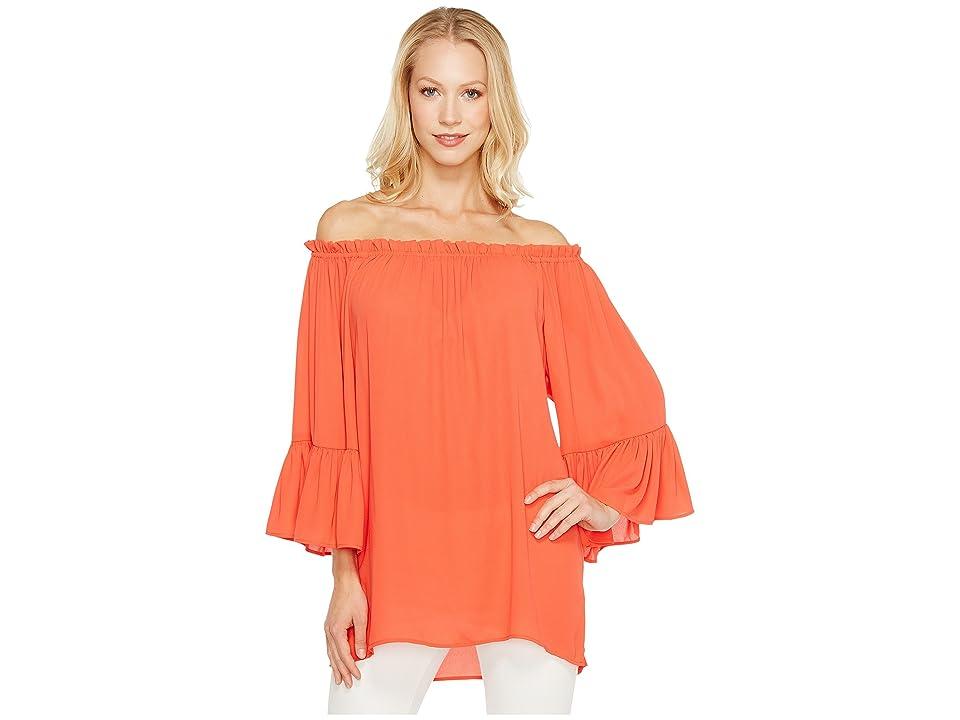 Karen Kane Convertible Off the Shoulder Top (Orange) Women