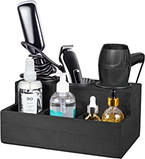 TERRA HOME Blow Dryer Holder - Modern Rustic Hair Dryer Holder Holds All Hot Tools, Hair Brush, Vanity Accessories - Bathr...
