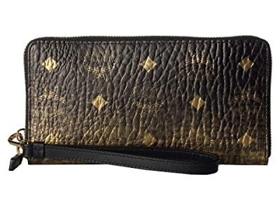 MCM Gradation Visetos Zipped Wallet Large (Gold) Handbags