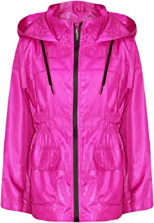 Girls Boys Raincoats Jackets Kids Lightweight Hooded Cagoule Rain Mac 5-13 Years