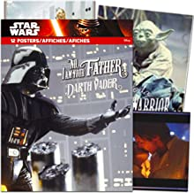 Classic Star Wars Poster Book Super Set ~ Bundle Includes 12 Posters Featuring Darth Vader, Yoda, Princess Leia, R2-D2, and More with Bonus Bookmark (Star Wars Room Decor)