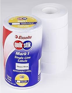 QUIKSTIK 48246 Pricing Gun Labels,Mark I White Removable