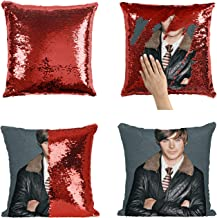 Zac Efron Young High School Musical_MA0379 Sequins 16x16 Pillow Cover with 18x18 inch Insert Girly Stuff Boys Xmas Present (Cover + Insert)
