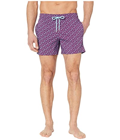 Vilebrequin Moorise Micro Turtles Superflex Swim Trunks (Kerala) Men