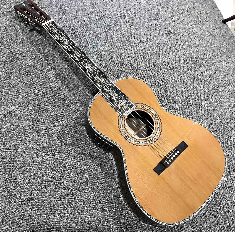 Guitarra Cedro Rojo sólido Cuerpo de Madera 45C Guitarra eléctrica acústica clásica Primaria Primaria de Guitarra acústica Guitarra de Madera AMINÍ (Color : Guitar, Size : 39 Inches)