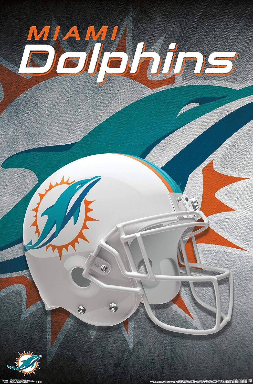 Trends International NFL Miami Dolphins - Helmet 18 Wall Poster, 22.375