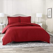 Nestl Bedding Duvet Cover Set - Ultra Soft 100% Microfiber Hotel Collection 3 Piece Set with 2 Pillow Shams - Insert Comfo...