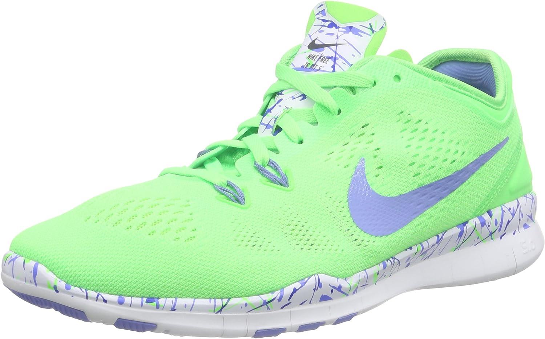 Nike Damen Free 5.0 Tr Fit 5 PRT Leichtathletikschuhe, (Squad Blau Wei Helles Mango-Blau Grau 406), 36.5 EU