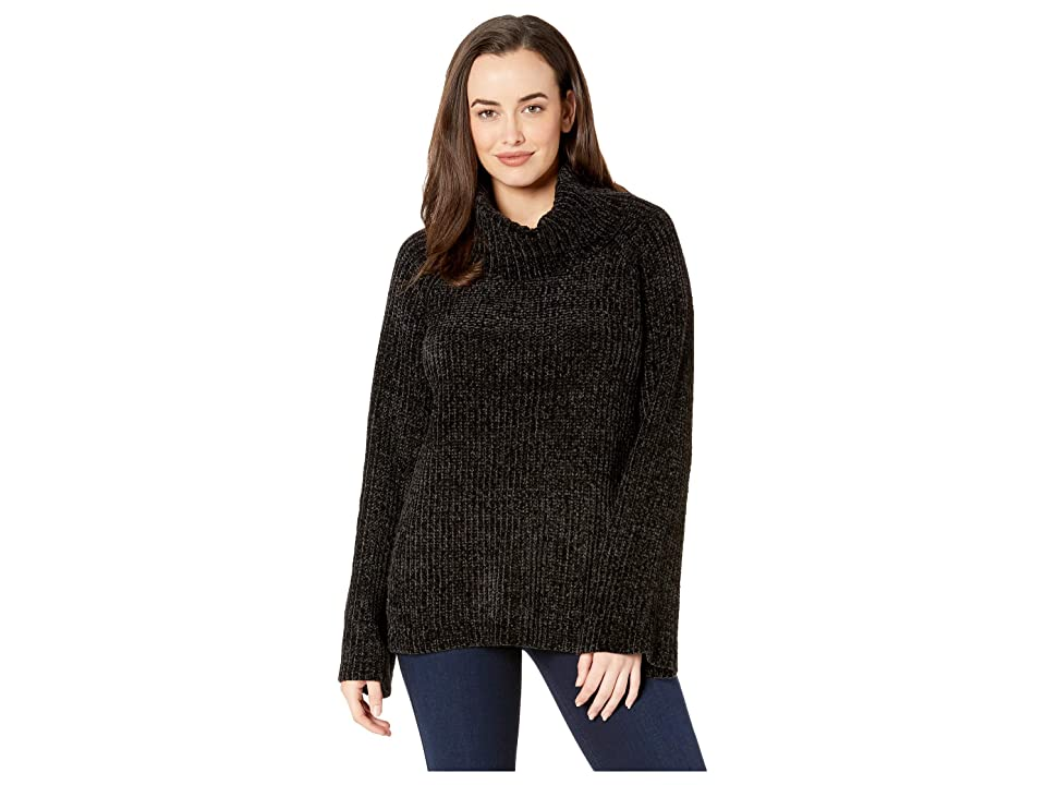 Lucky Brand Chenille Cowl Neck Sweater (Lucky Black) Women