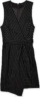 Women's Pinstripe Crossover Dress