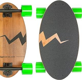 Eggboards Mini Longboard Cruiser Skateboard - The Original. Small Bamboo Skateboards Ride Like Longboards. Complete Longboard for Adults and Kids