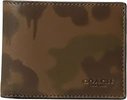 COACH Slim Billfold Wallet With Wild Beast Camo Print