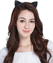 CAKYE Christmas Headband Glitter Antlers Cat Ears Holiday Cosplay Party Costume