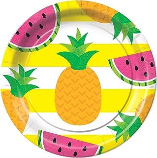 Tutti Frutti Tropical Fruit Dessert Plates Party Tableware Supplies Decorations