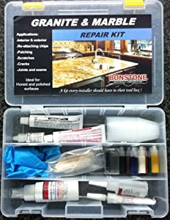 Granite and Marble Interior & Exterior Repair Kit / Marble, Granite, Limestone, Engenered Stone- UV Stable - (Joints & Seams, Chips, Cracks, Scratches, Laminate repair)- Easy To Use