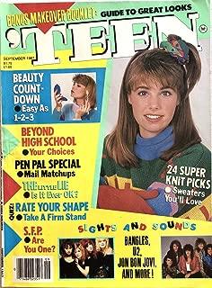 'Teen September 1987 Bon Jovi, Bangles, U2, Beauty, Fashion, Fiction