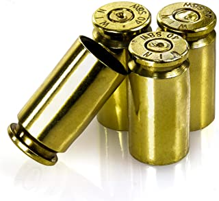 Lucky Shot Set of 4 Polished 40 Caliber Bullet Valve Stem Caps