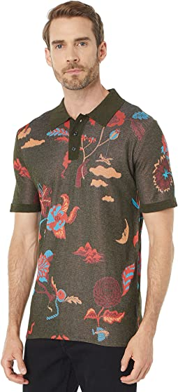 Lightweight Jacquard Knitted Polo