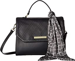 Argyle Top-Handle Satchel w/ Logo Scarf
