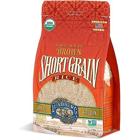 Lundberg Organic Short Grain Brown Rice, 2lb (6 count), Gluten-Free, Non-GMO Project Verified, USDA Certified Organic, Vegan, Kosher, 100% Whole Grain