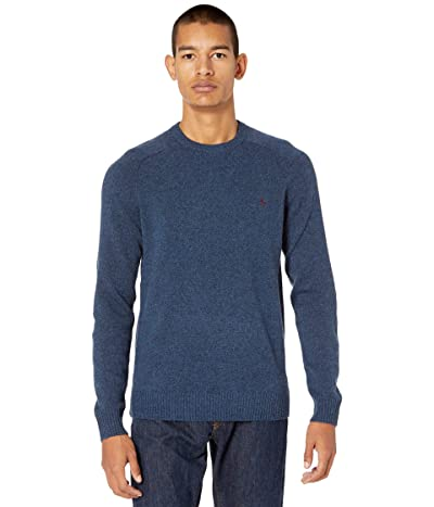 Original Penguin Wool Raglan Crew Sweater (Blue Sapphire) Men