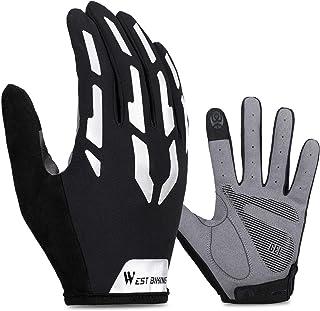 Cycling Gloves for Men Women Ladies, Half-Finger & Full-Finger Variants, Gel Padded Silicone Touch Screen Glove for Smart ...