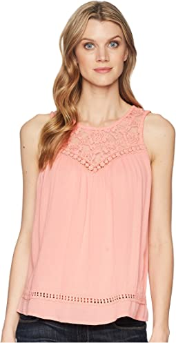 1594 Rayon Crepe Sleeveless Top