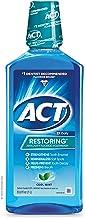 ACT بازسازی دهانشویه، نعناع نعناع داغ، بطری های 33.8 اونس (بسته 3)، دهانشویه فلوراید ضد انقباض کمک می کند تا مینا دندان و بهداشت دهان و دندان را برای جلوگیری از افتادگی دندان و حفره ها کمک کند.